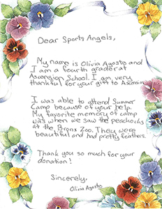 Ascension Thank you note